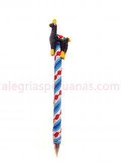 Decorative Pen Blue Wool Cover and  Llama Design