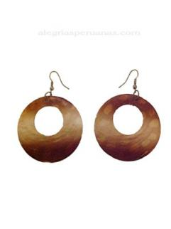 Earrings Concha Nacar Brown