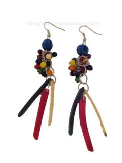 Earrings Mixed Colors Seed Style