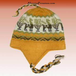 Knitted Hat Yellow Design