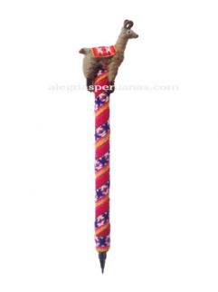 Decorative Pen Fuxia Wool Cover and Llama Design