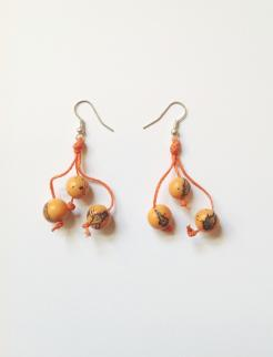 Earrings Seed Style Orange