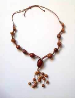 Long Necklases Tagua Nut Brown