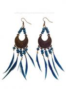 Earrings Feather Bird Turquoise