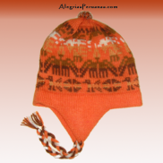 Knit Hat Chullo Orange