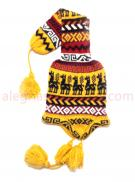 Long Head Tail Knit Hat Gold