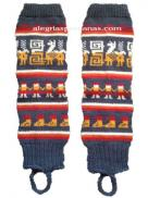 Leg Warmer Cobalt Blue Design