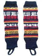 Leg Warmer Dark Blue Design