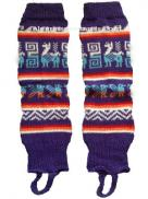 Leg Warmer Purple Design