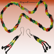 Rasta Necklace Earring Set