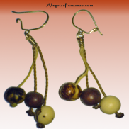 Earrings Small Seed Brown