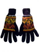 Winter Knit Gloves Dark Blue