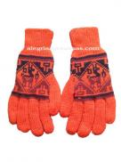 Winter Knit Gloves Orange