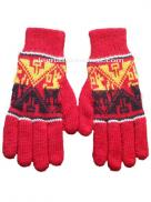 Winter Knit Gloves Red